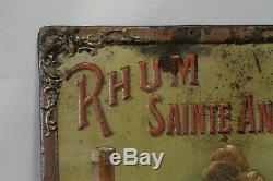 Rarissime tôle lithographiée RHUM SAINT ANNE signé Nover