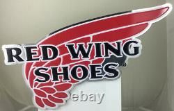 Red Wing Shoes Tin Metal Advertising Sign Wings