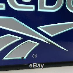 Reebok Logo Sign 24.5 Lights Up Light Display Store Advertising Blue Vintage