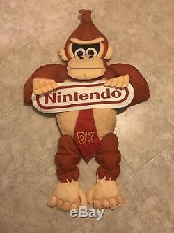 SNES Nintendo Donkey Kong Country Plush Store Display Sign Promo HTF Employee