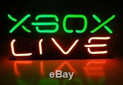 SUPER RARE Microsoft XBOX LIVE PROMO Video Game Store Display Neon Sign