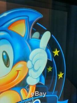 Sega Sonic the Hedgehog Sign Store Display Light Nintendo Promo Movie