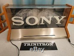 Sony Triniton Fiber Sign Light Advertisement Store Display Nintendo Sega
