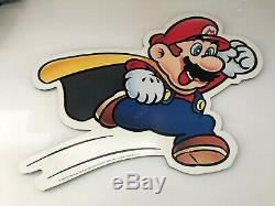 Super Mario Bros NINTENDO RARE In Store Sign Display 2002 PROMO