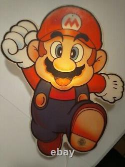 Super Mario Nintendo Vintage Lampe 1992 Original Sign Display Cabinet Store rar