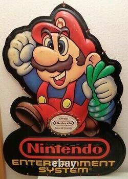 Super Mario Schild Nintendo NES Aufsteller Reklame Werbung 89 Store Display Sign