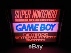 Super Nintendo/Game Boy/ NES LED Store/Rec Room Display light up SIGN