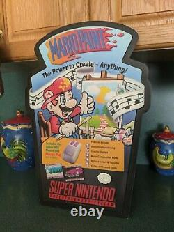 Super Nintendo Mario Paint Store Promotional Display Sign