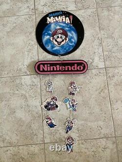 Super Nintendo SNES Mario Mania Store Display Sign Promo Rare Mobile Mariokart