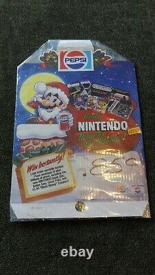 Super Nintendo Super Mario Pepsi Promotional Store Sign Display Shelf Talker
