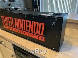 Super Nintendo Superbrite Store Display Sign NES M80R