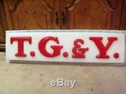 T. G. & Y Vintage Original Large Store Sign Americana Display Advertising TG&Y
