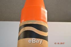 THINK BIG NYC 1989 Jumbo Crayola Crayon 57 Huge Large Rare Orange Advertisement