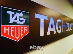 Tag Heuer Watch Dealer Sign REAL Heuer Porsche 9 FEET Rolex