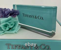 Tiffany&Co Crystal Store Display Sign Fixture Collector Decor 3.25x6.75x1