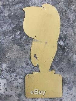 Tole Esso Oscar No Pin Up No Plaque Emaillee Sign