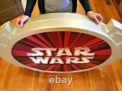 Toys R us EXCLUSIVE STAR WARS HUGE Plastic DISPLAY SIGN Ep1
