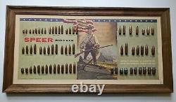 VINTAGE 1960s SPEER BULLET BOARD ADVERTISING SIGN HUNTING AMMO DISPLAY