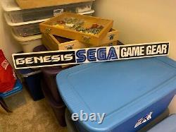 VINTAGE 1991 SEGA GENESIS GAME GEAR Large Original Store Display Sign Video Game