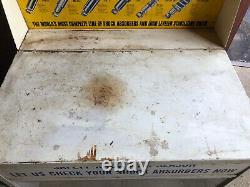 VINTAGE Monroe Shocks DISPLAY SERVICE Station CART PARTS CABINET Gas Oil Sign