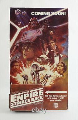 VINTAGE STAR WARS 1984 CBS Fox Empire Strikes Back VHS Display Standee Promo