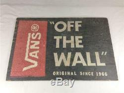 Vans Shoes Off The Wall Wooden Store Sign Display 18 x 26