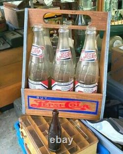 Vg Pepsi Cola 6 Pack Carrier Carton HUGE Bottle Store Soda Fountain Display Sign