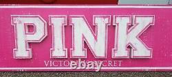 Victorias Secret HUGE LIFE IS PINK STORE DISPLAY METAL SIGN APPROX 14 X 2 FEET