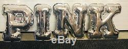 Victorias Secret Silver Balloon Letters PINK Hard Plastic Store Display Prop