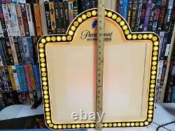 Video VHS Rental Store 80s Paramount Light Up Display Sign with 5 Movie Signs