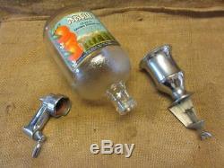 Vintage 1930s Nesbitts Beverage Dispenser Antique Old Sign Orange Complete 9978
