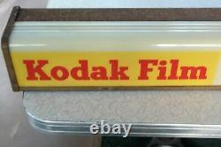 Vintage 1950's Kodak Film Sign/ Lighted Box Sign/ Works & Looks Great! 26 Wide