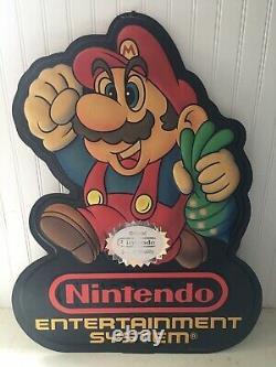 Vintage 1988 large store display sign original Nintendo Super Mario Bros 2 NES