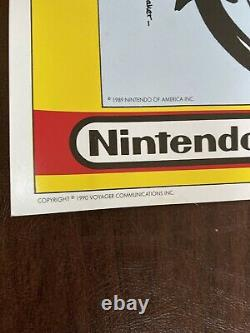 Vintage 1990 Nintendo Comic System Mario Special Ed Store Display Sign Poster