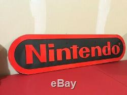 Vintage 1990's Nintendo Store Display Sign Authentic! Amazing Condition