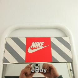 Vintage 1990s Nike METAL SHOE MIRROR DISPLAY SIGN AUTHENTIC Sales floor Rare