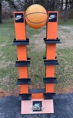 Vintage 1990s Nike Store Display Sign Orange Swoosh Basketball Jordan 90s
