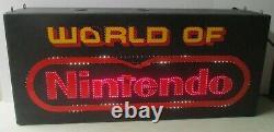 Vintage 1991 World Of Nintendo Fiber Optic Store Display Sign Model Nes Working