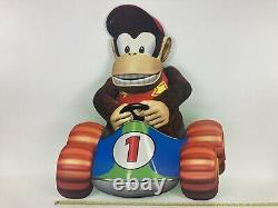 Vintage 1997 Diddy Kong Racing 25 Cardboard Store Display Sign N64 Nintendo 64