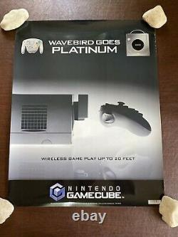Vintage 2003 Nintendo GameCube Wave Bird ToysRus Store Display Sign Poster