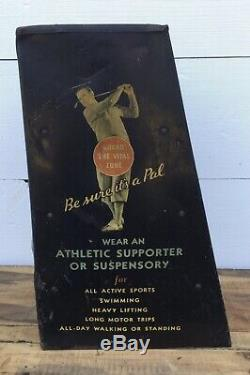Vintage 40s/50s PAL ATHLETIC SUPPORTER Counter Display Rack Baseball Golf Sign