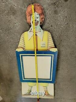 Vintage 6.2' tall McDonalds Ronald McDonald store Frame Sign display- Rare