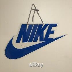 Vintage 80s NIKE SWOOSH Logo Acrylic Store Display Sign 90s Jordan Promo RARE