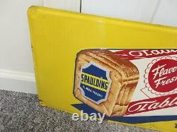 Vintage Advertising Spaulding Bread Sign Metal Store Display Sign A-132