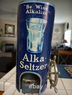 Vintage Alka-Seltzer Dispenser Advertising Soda Fountain Drug Store Sign Display