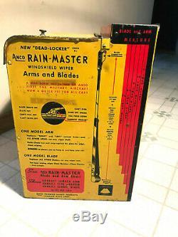 Vintage Anco Rain Master Windshield Wiper Metal Display Cabinet Dated 1945 Rare