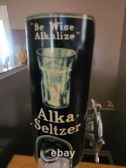 Vintage Be Wise Alkalize Alka Seltzer Dispenser Display Sign