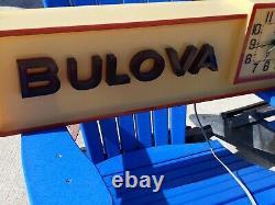 Vintage Bulova Store Display Hanging Clock Watchmaker Repair Advertising Sign