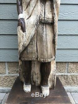 Vintage Cigar Store Indian Display Tobacco Native American Advertising Sign