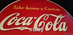 Vintage Double-Sided 1940's Coca Cola Coke 13 Button Country Store Display V30